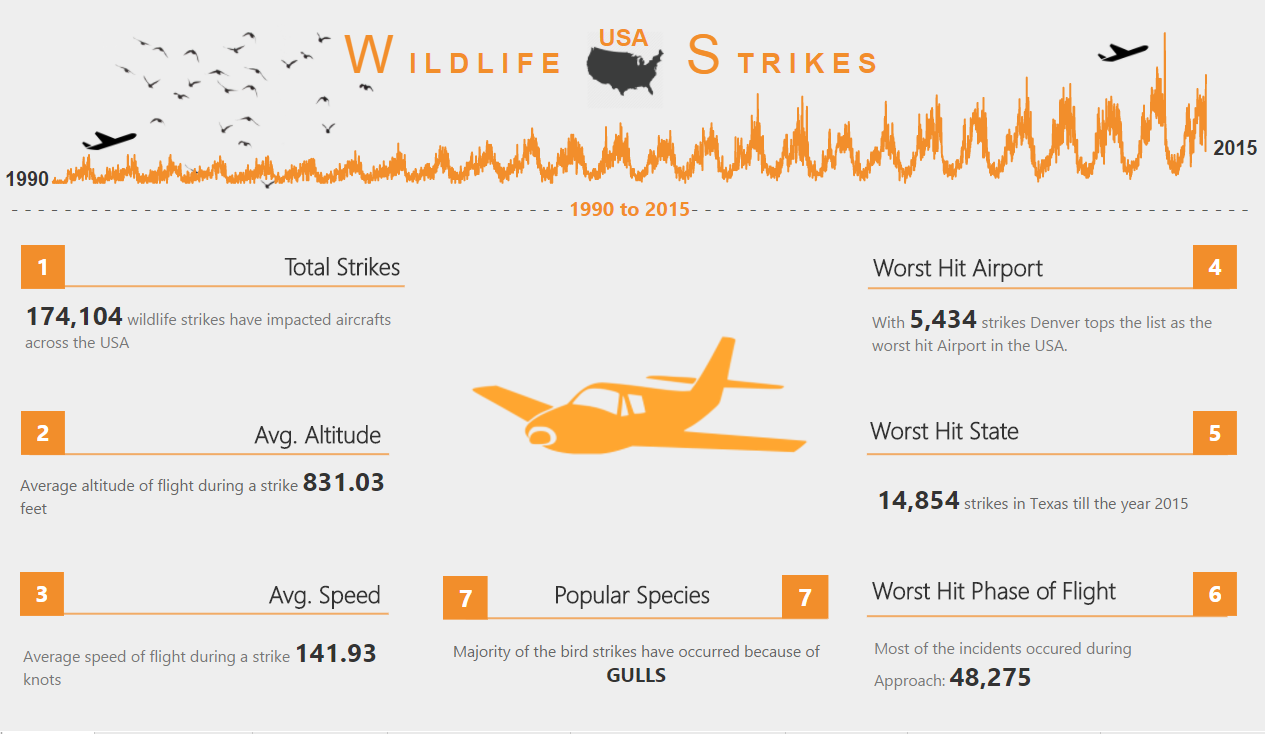 Aircraft Wildlife/Bird Strikes in USA