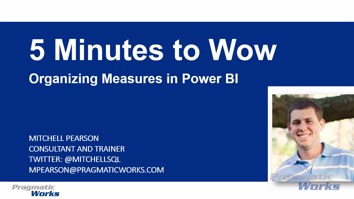 5 Minutes to Wow - Organizing Measures