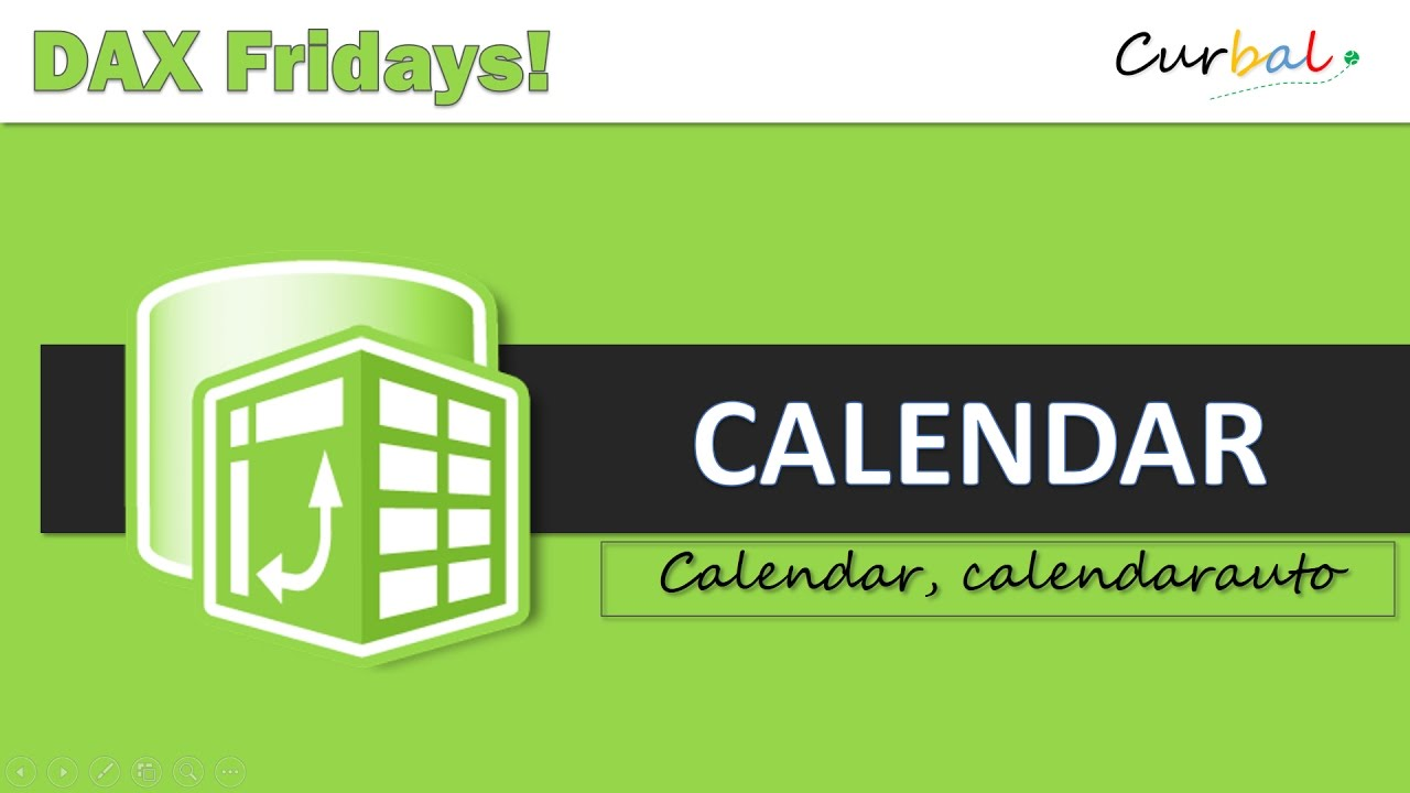 Create a Calendar with DAX in Power BI