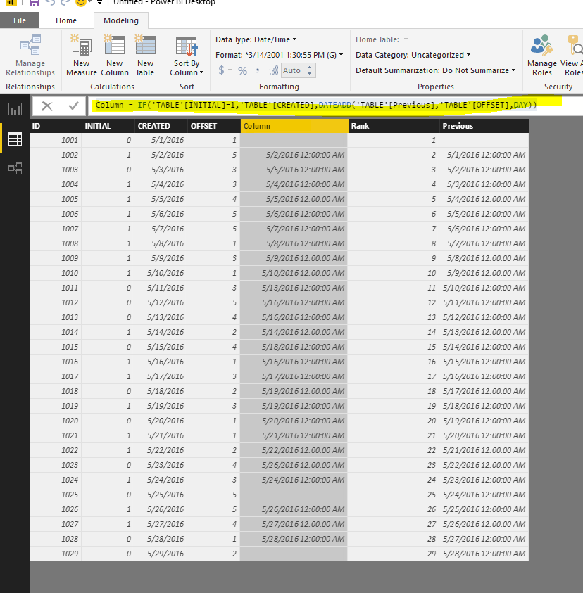 how to add rows to power bi table