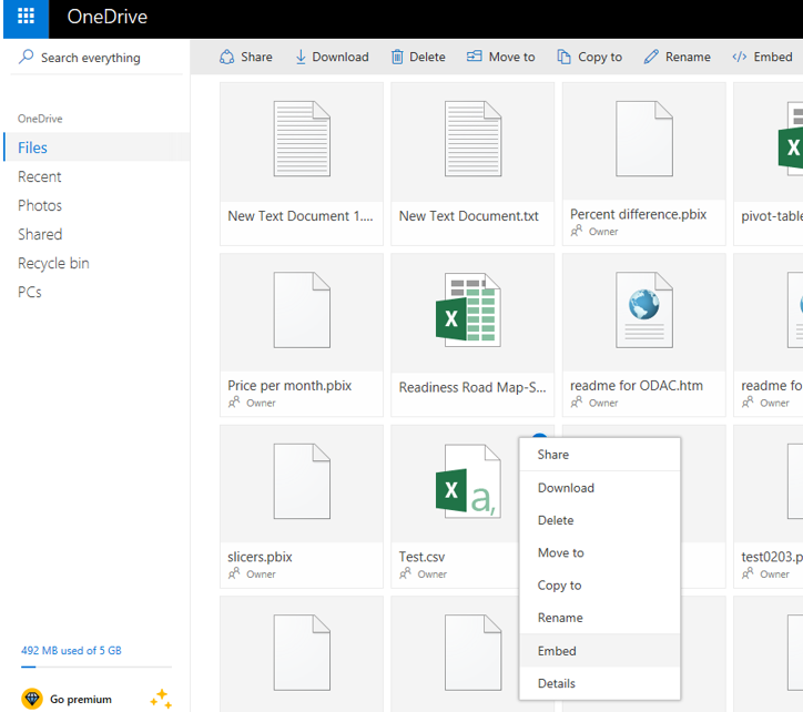 Not able to connect to CSV file on OneDrive Person