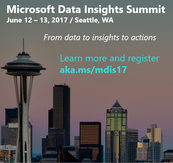Microsoft Data Insights Summit 2017