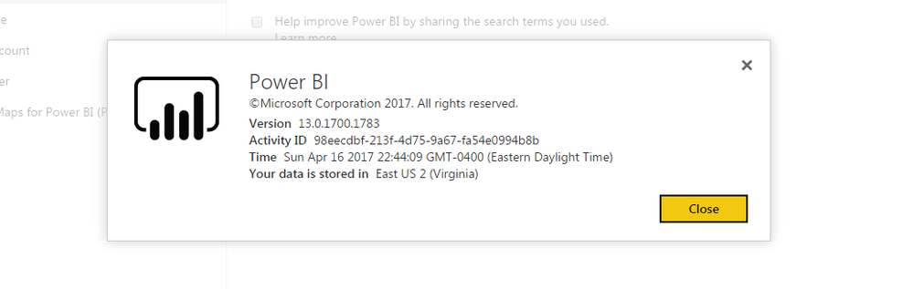 PowerBi Setting