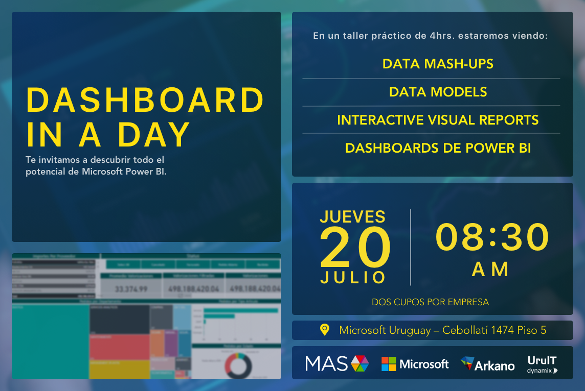 Dashboard in a Day - Uruguay- 20th July 2017