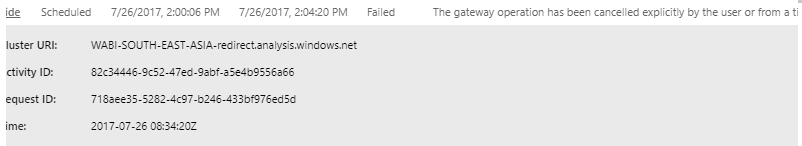 Gateway Refresh Error