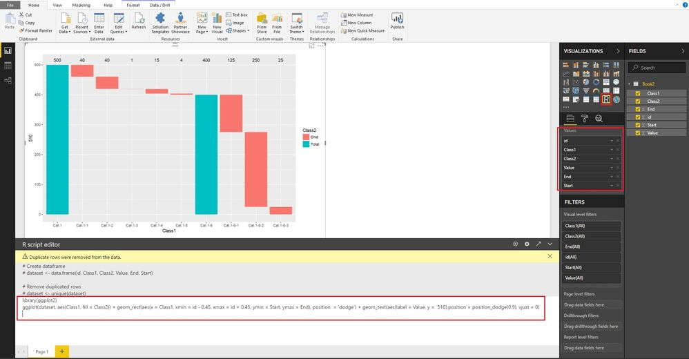 Funnel  Waterfall Chart  Microsoft Power Bi Community