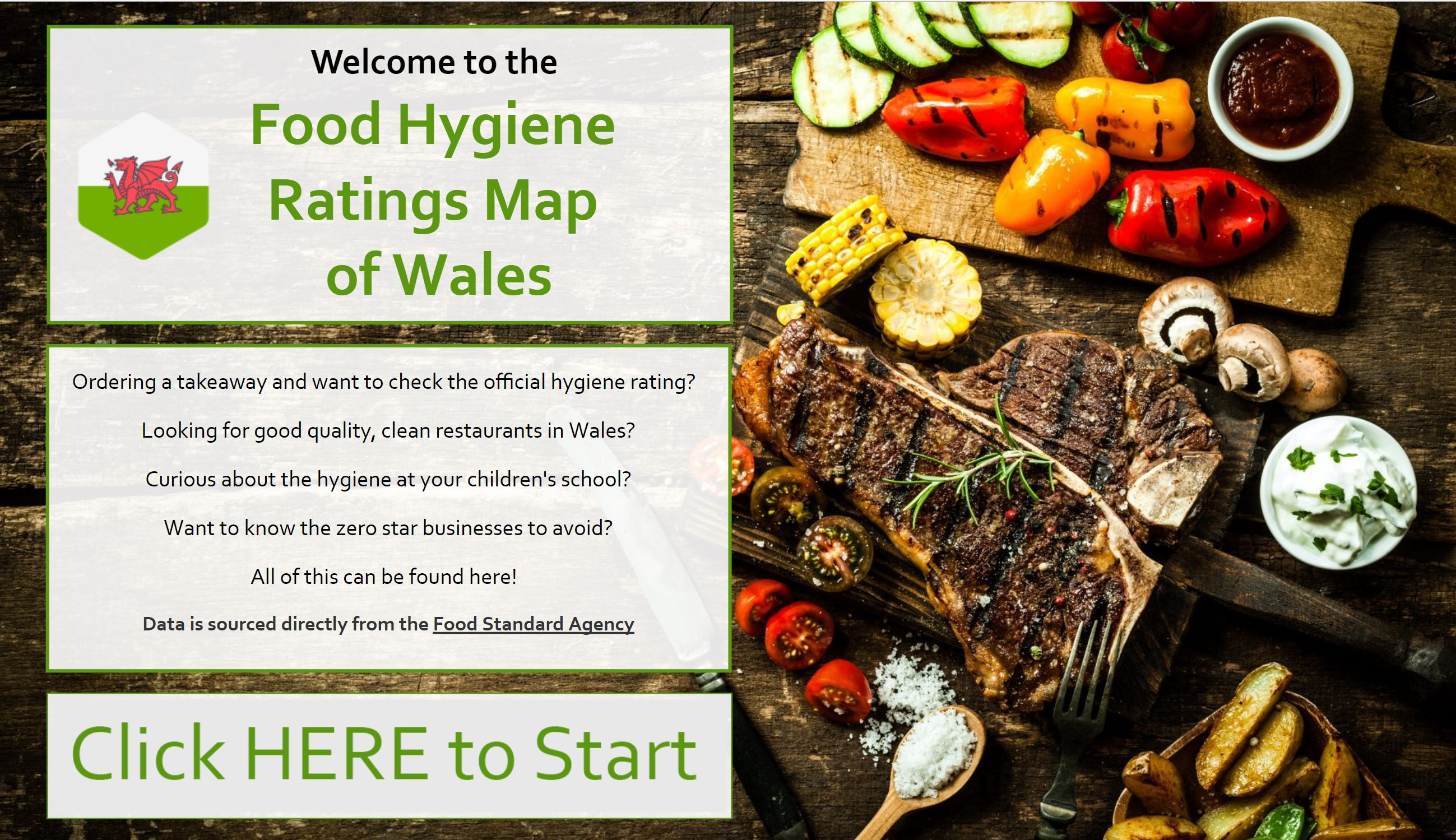 Food Hygiene Ratings Map of Wales - Takeaways, Bars, Restaurants, Schools & More!