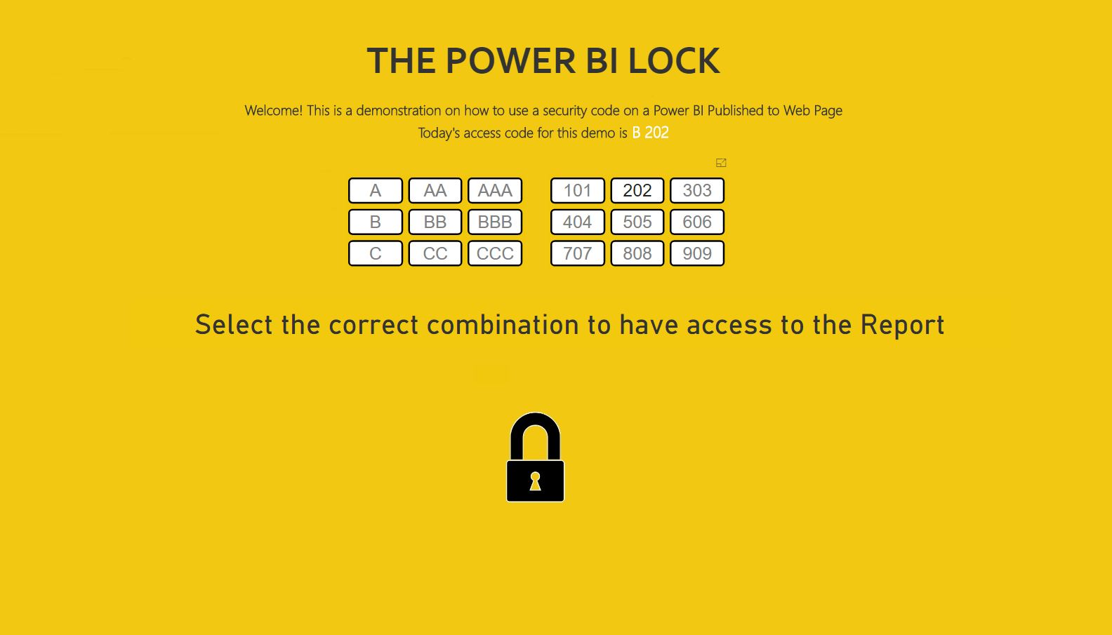 The Power BI Lock