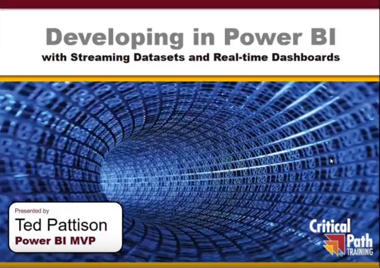 Developing in Power BI with Streaming Datasets and Real-time Dashboards