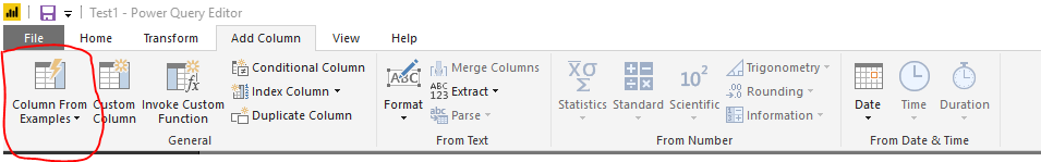 Add Column from Example
