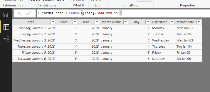 Solved: How to show Name of Day on X-Axis - Microsoft Power BI Community