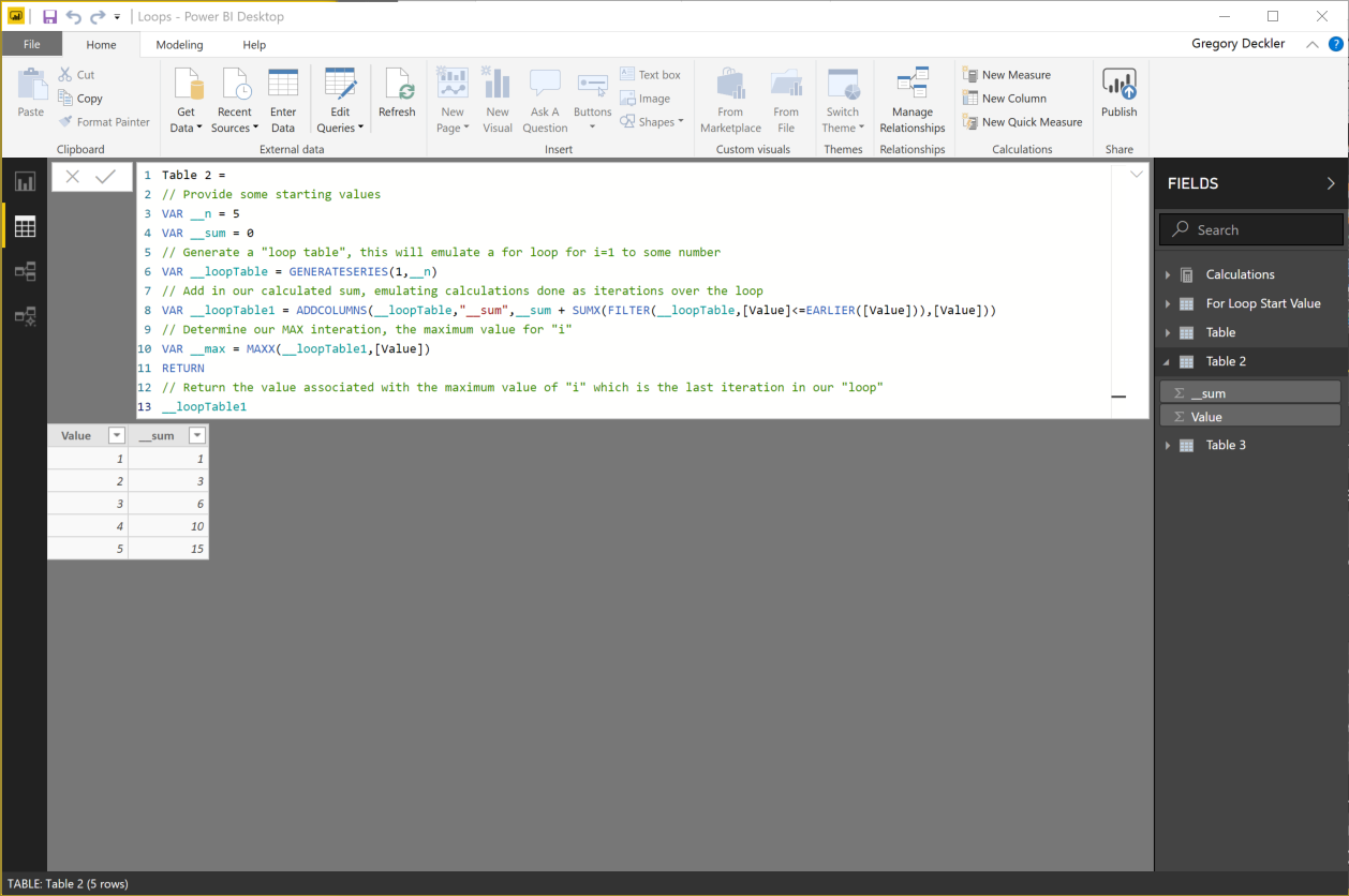 For and While Loops in DAX - Microsoft Power BI Community