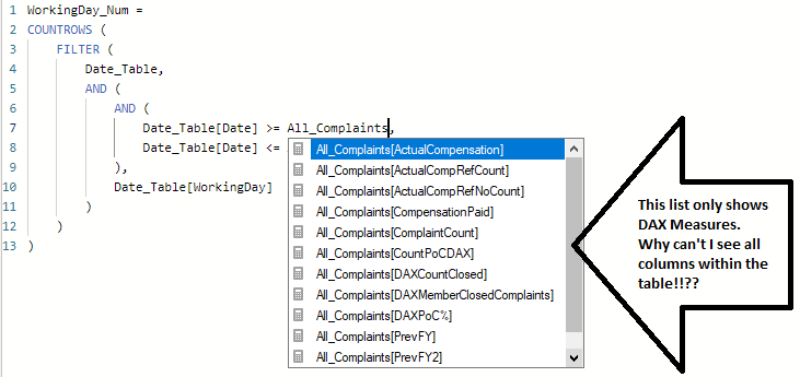 Frustrating that forum user examples vary from what can actually be done in Power BI