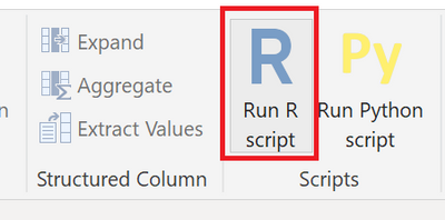 Invoking the 'Run R script' transform