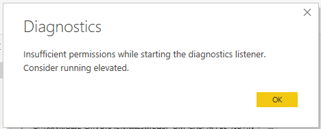 While doing start diagnostics getting above error.