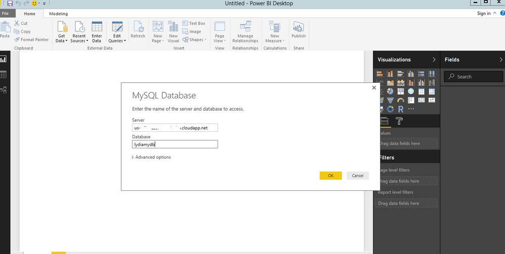 Solved: Connection string for Azure My SQL Database connec... - Microsoft  Power BI Community