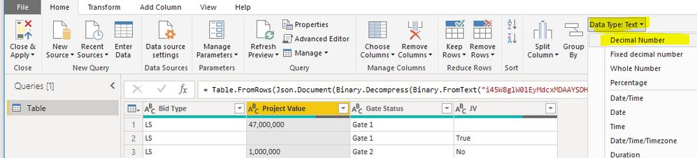 In Query Editor
