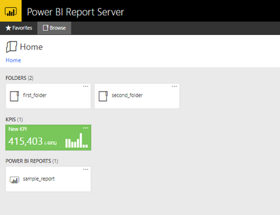 Please see this image If you wanna view my power bi report server home