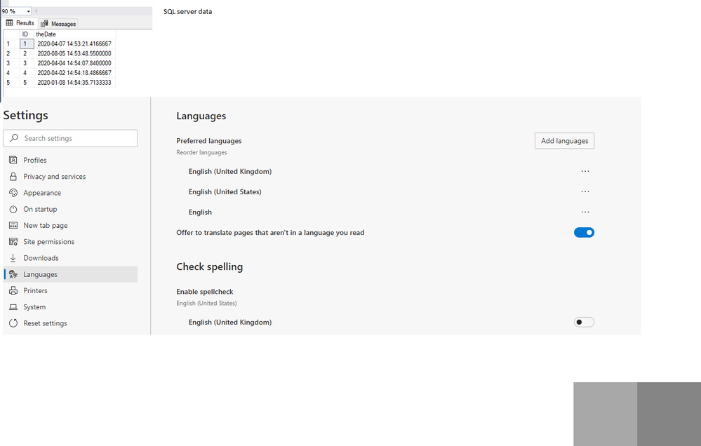My settings - set browser to UK to simulate UK user