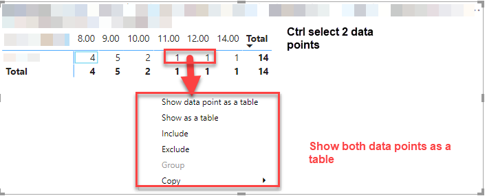 Cannot select more than 1 data point