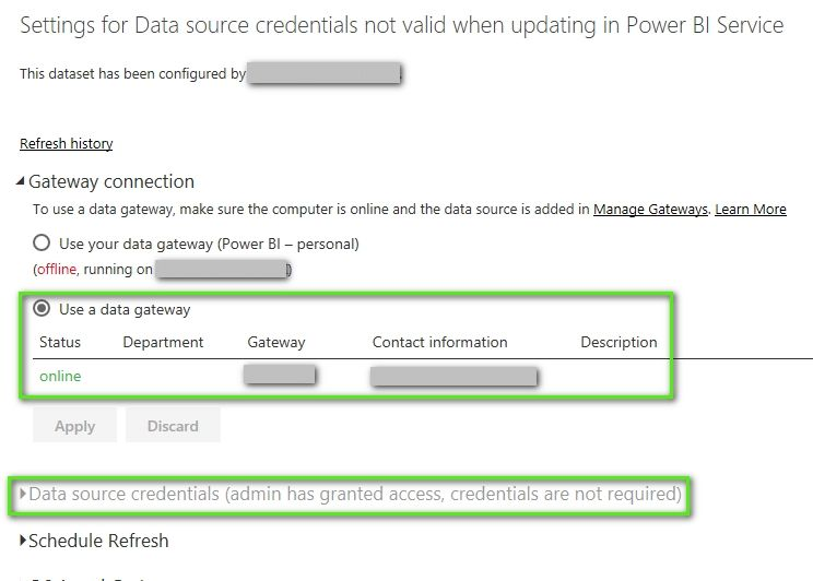 Data source credentials not valid when updating in Power BI Service_1.jpg