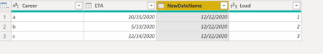 Remove Rows, Promote Headers, Rename Date Field