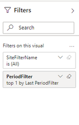 Filter pane in the report in PowerBI Service (correct)