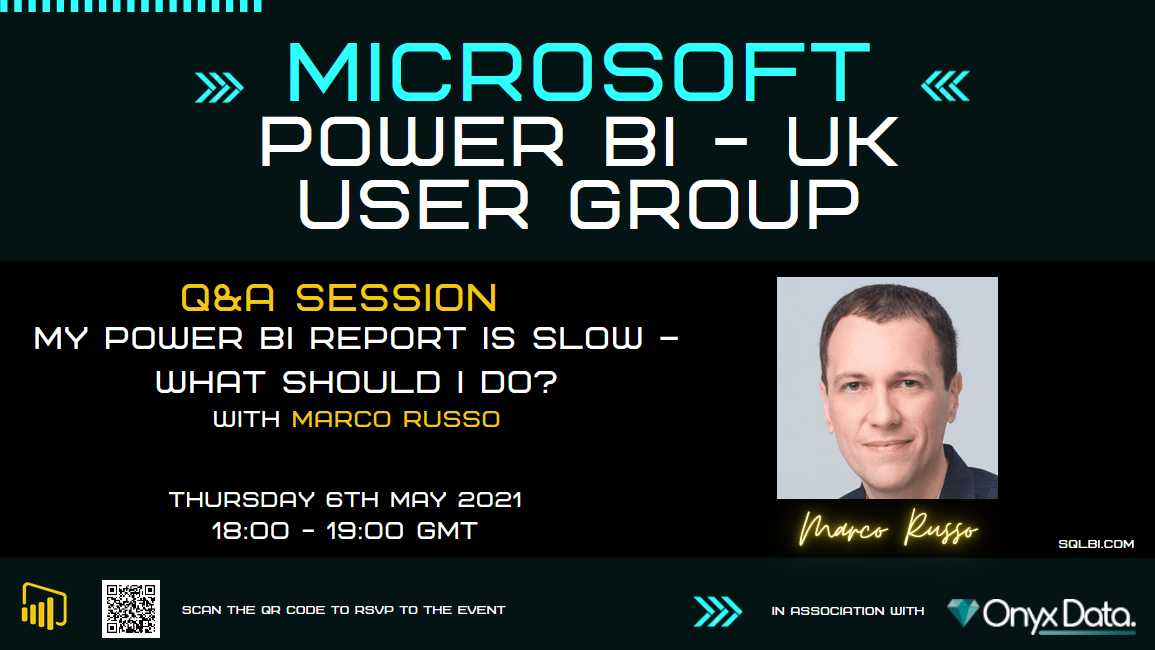 My Power BI report is slow – What should I do? With Marco Russo