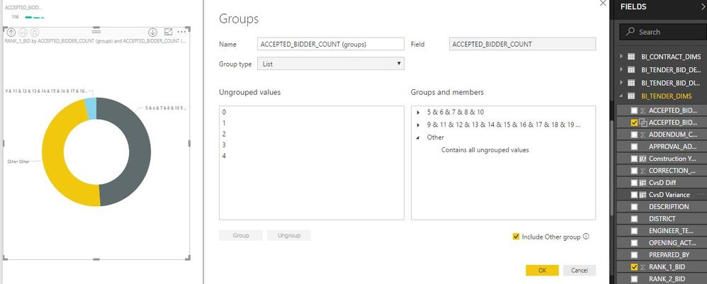 unable to uncheck the include other group