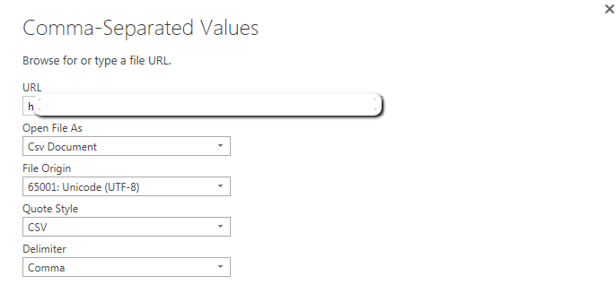 Importing from SSRS into PBI as CSV