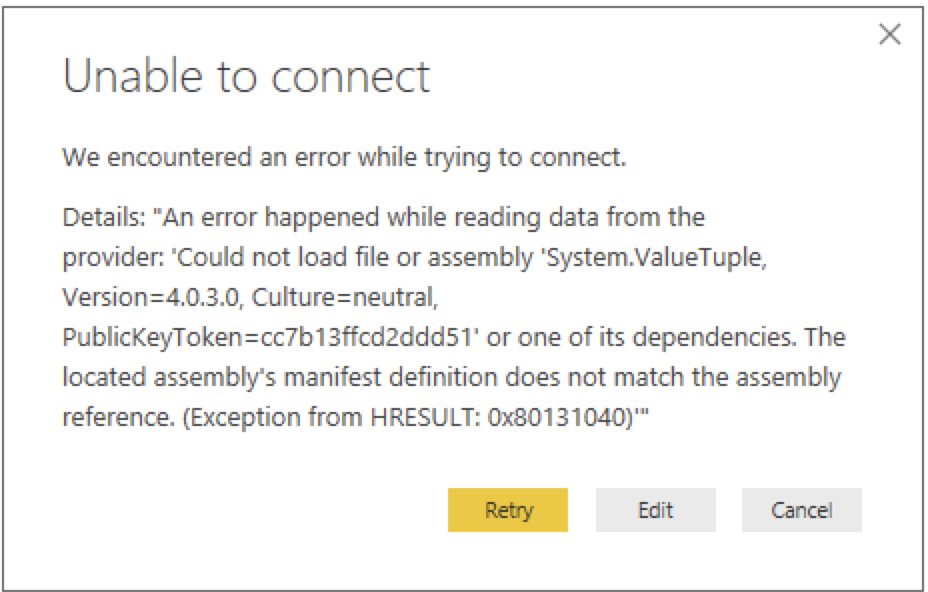 Solved: Connector Postgre SQL DATABASE - Microsoft Power BI