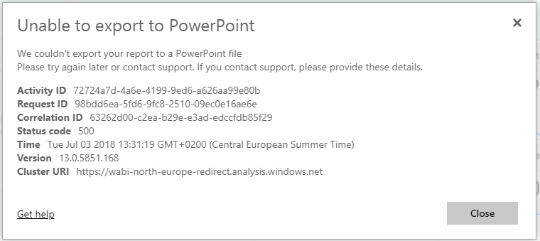 Unable to export to PPT.PNG