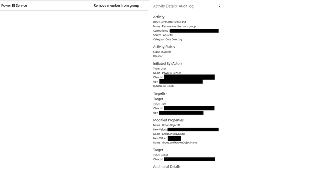 Power BI Service removes user from O365 Group/MS T