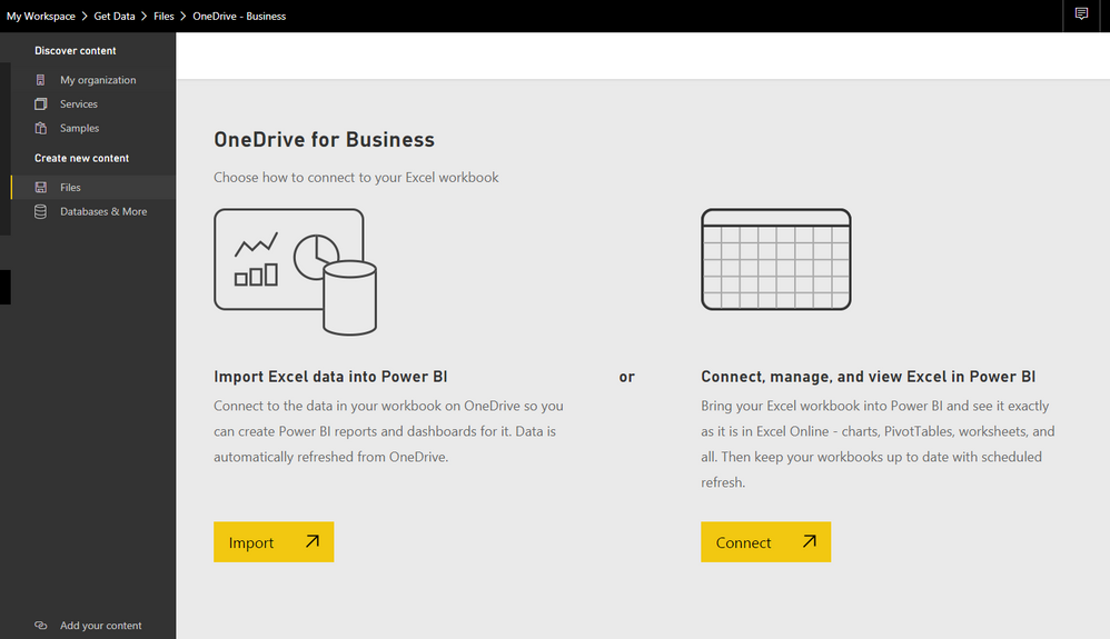 Solved: Uploading Excel connected to PowerBI Data Model to