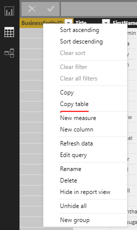 Solved: Export list of tables present in my data modal
