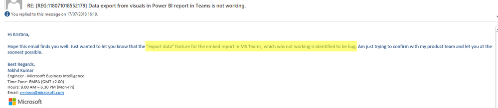 Solved: NOT WORKING: Export data from Power BI report visu