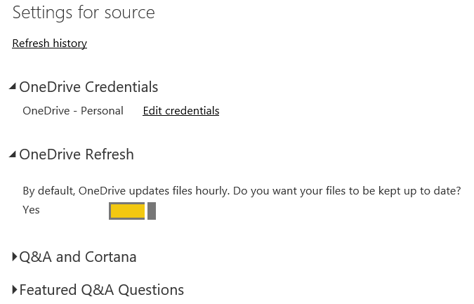 Solved: Auto refresh from excel file on Onedrive - Microsoft Power