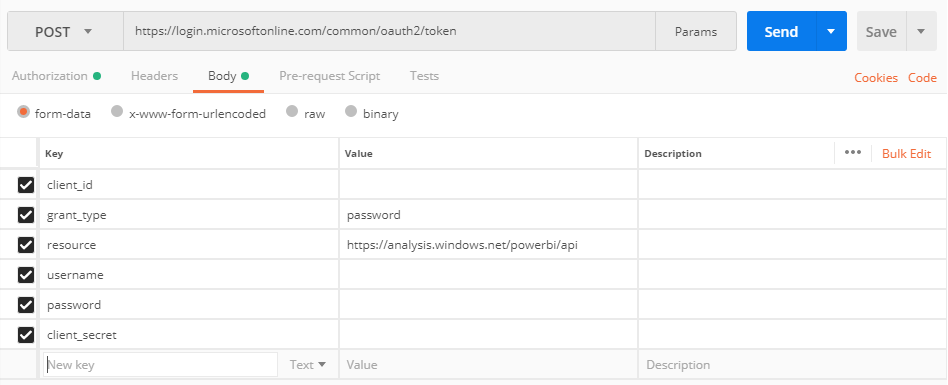How To: Get embed token using Get/Post only - Microsoft