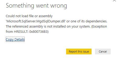 Solved: Could not load file or assembly | Exception from H