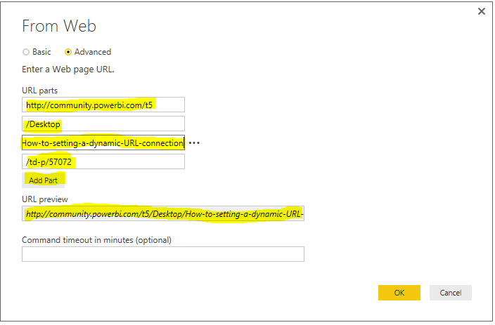 Solved: How to setting a dynamic URL connection - Microsoft