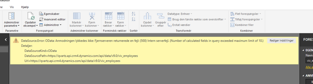 New error Dynamics 365 Number of calculated fields