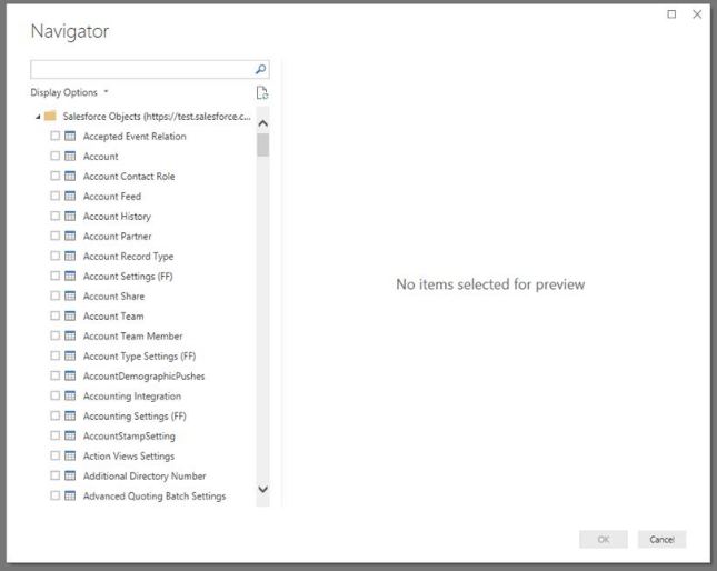 Salesforce Object Connector - permissions - Microsoft Power BI Community