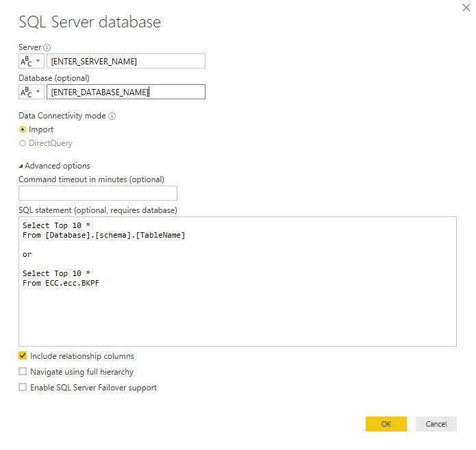 Solved: Possibility connect Power BI to SAP ECC - Microsoft
