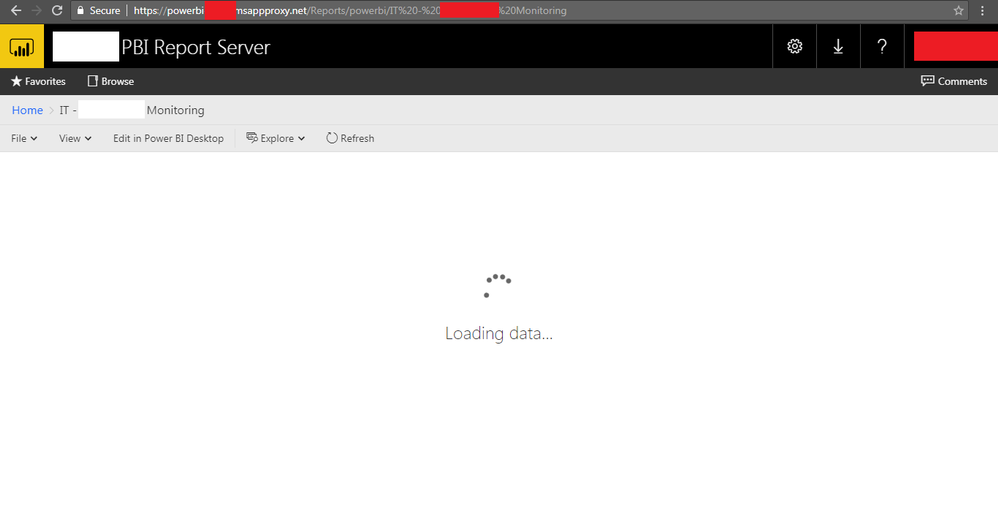 Report Server with AD Application Proxy stuck at l    - Microsoft