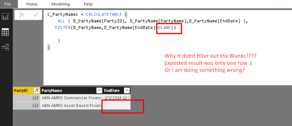 filter out blanks in a calculated column microsoft power bi