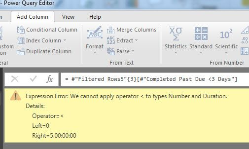 Solved: power query formula error: cannot apply operator