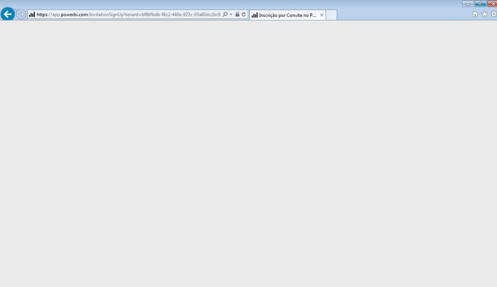 Shared dashboard link does open a blank page - Microsoft