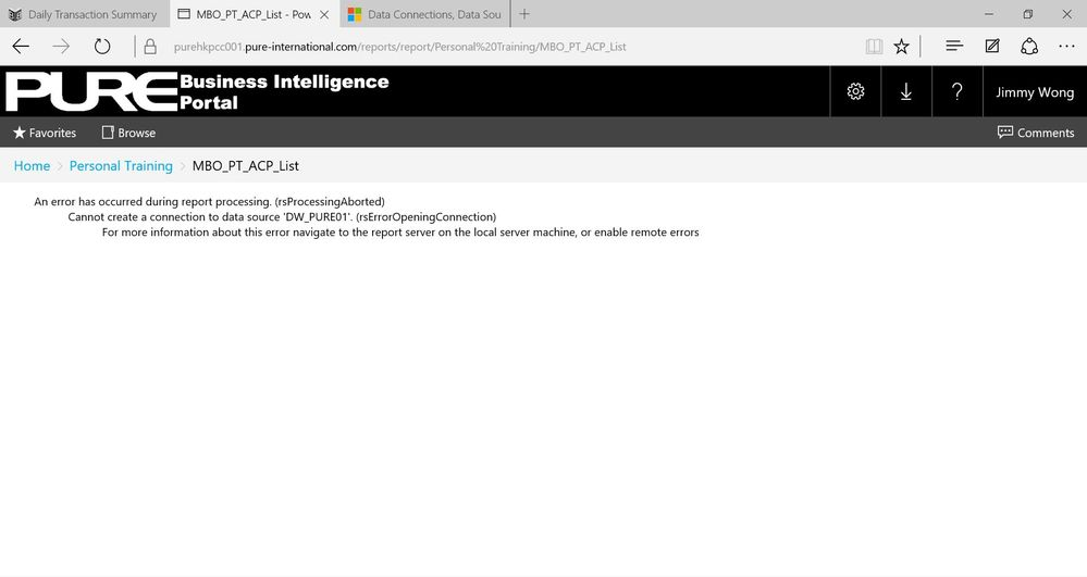 An internal error occurred on the report server  S    - Microsoft