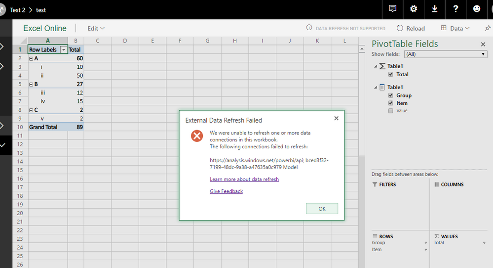 Can I connect a Workbook to a Power BI dataset? - Microsoft