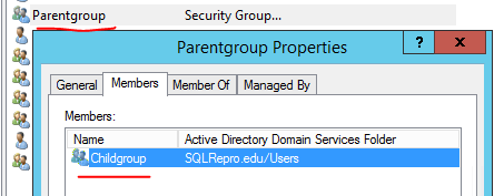 Members in nested AD groups can't run BI reports - Microsoft